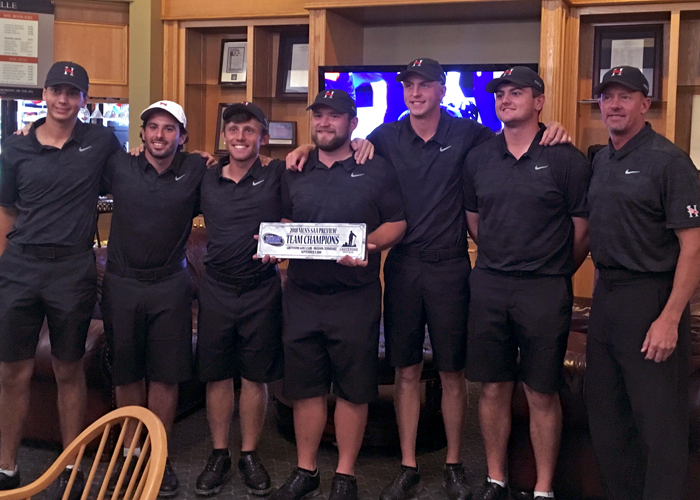 The Huntingdon B-Team defeated three nationally ranked teams and won the SAA Men's Golf Preview  on Sunday. (Photo submitted)