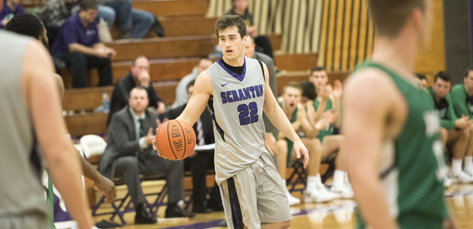 Junior guard Kyle DeVerna led the Royals with 20 points on Thursday night at Drew.
