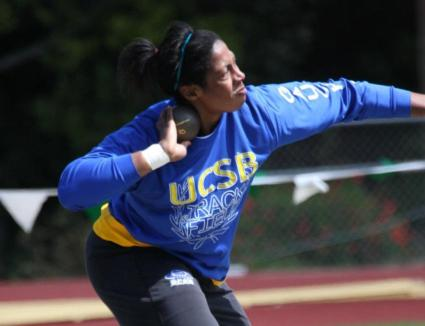 Kujore Wins Shot Put, Leads Gaucho Women at Bryan Clay Invite