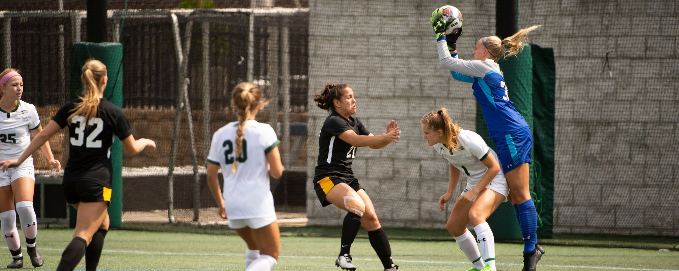 Caffrey Records 11 Saves in Scoreless Tie at Catholic