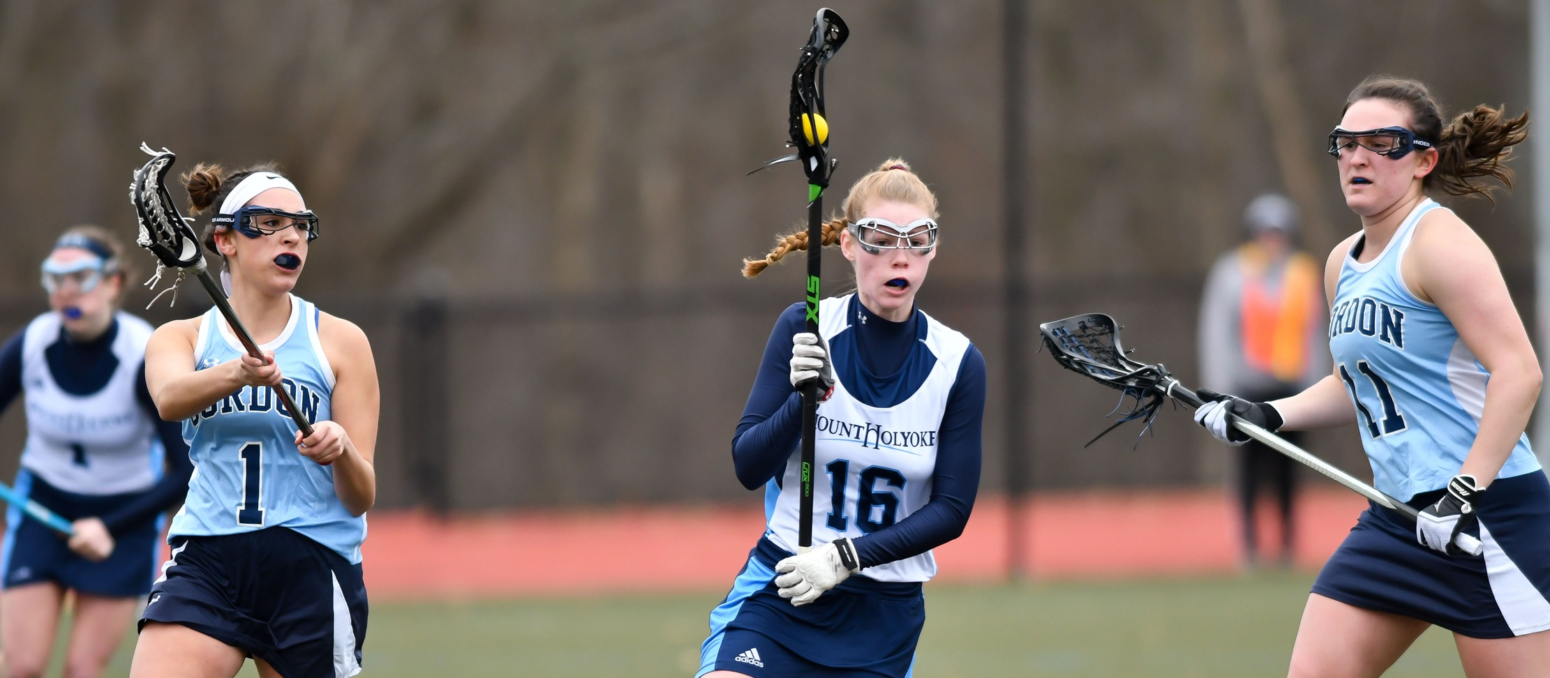 Action photo of lacrosse junior Haley Subocz.