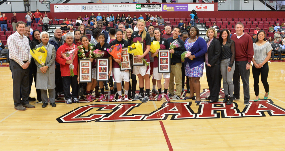 Bronco Women Win on Senior Day
