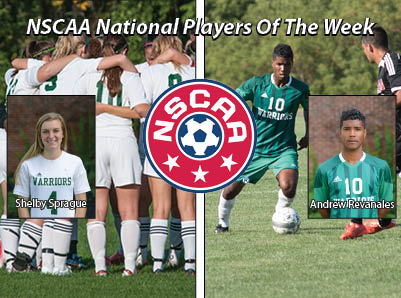 Revanales, Sprague Sweep NSCAA Junior College Player Of The Week Awards