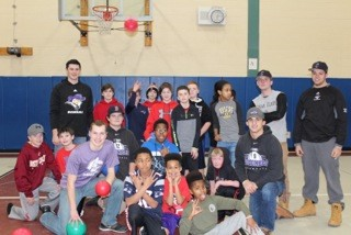 "Baseball Volunteers at Milton ""Fun Night"""