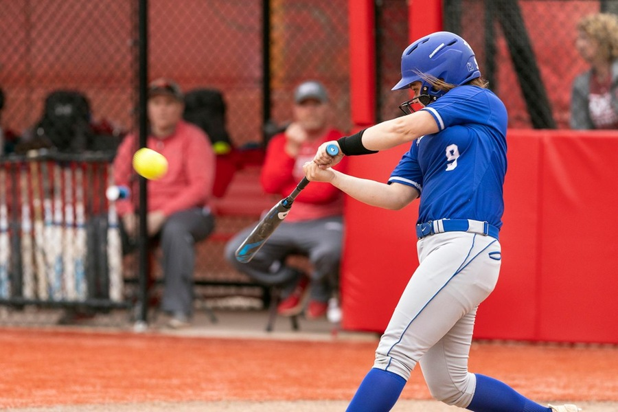 Gen Brittingham homered to give the Blue the lead in the ninth inning against Babson (Frank Poulin).
