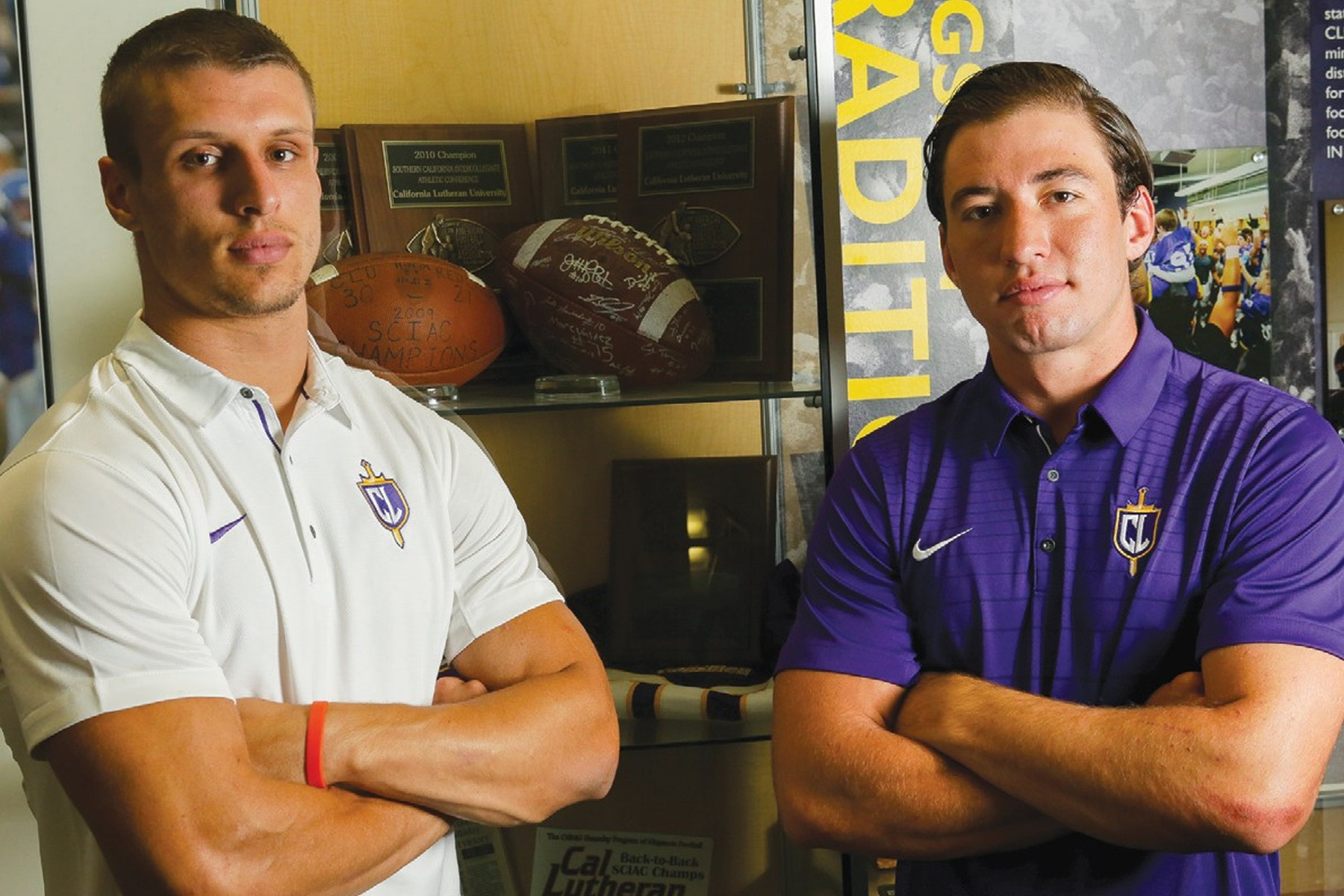 Aaron Lacombe (L) and Adam Friederichsen (R) have been instrumental to the success of the Kingsmen on the gridiron (Photo: Bobby Curtis, TO Acorn).