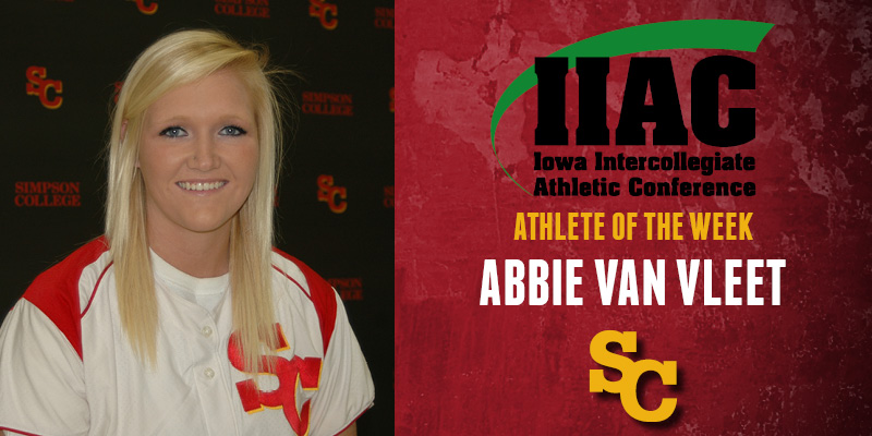 Van Vleet named IIAC Athlete of the Week