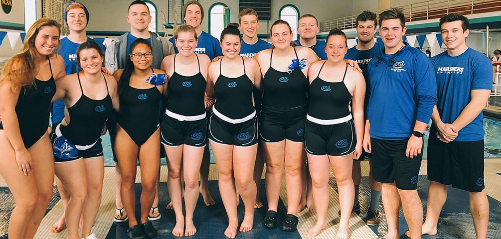 Men's Swimming Swims Past Colby-Sawyer