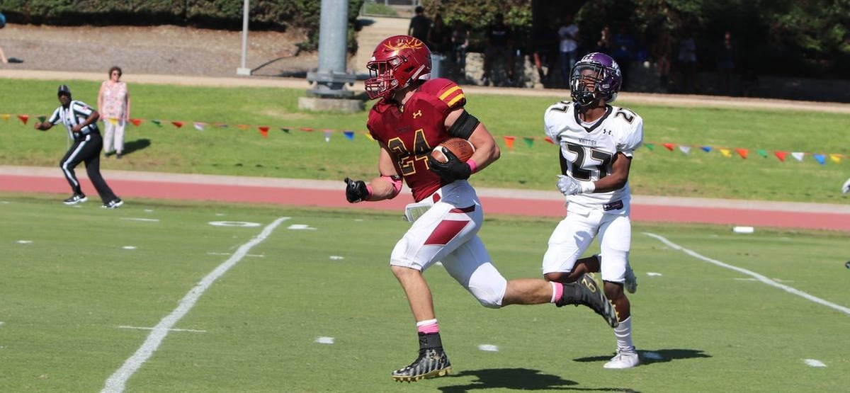 Garrett Cheadle (274 Yards) Breaks School Rushing Record as CMS Football Moves to 5-0 in SCIAC