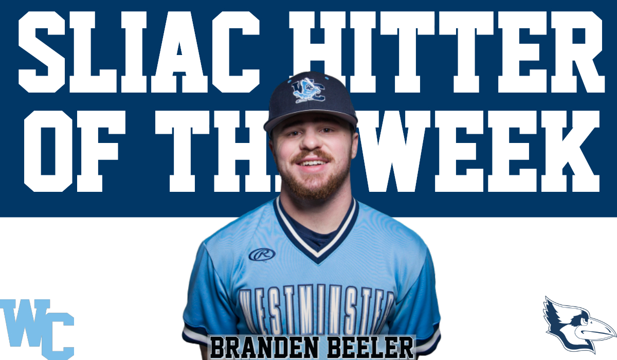 Beeler Wins Second SLIAC Hitter of the Week Award