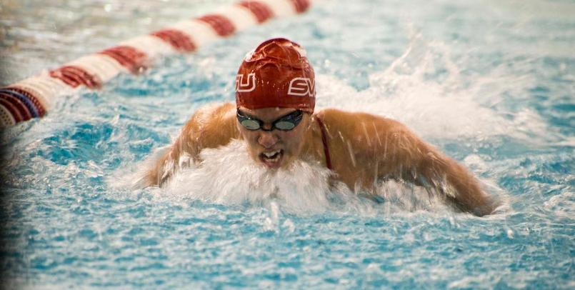 Swimming & Diving Defeats Albion in First Meet of the Year