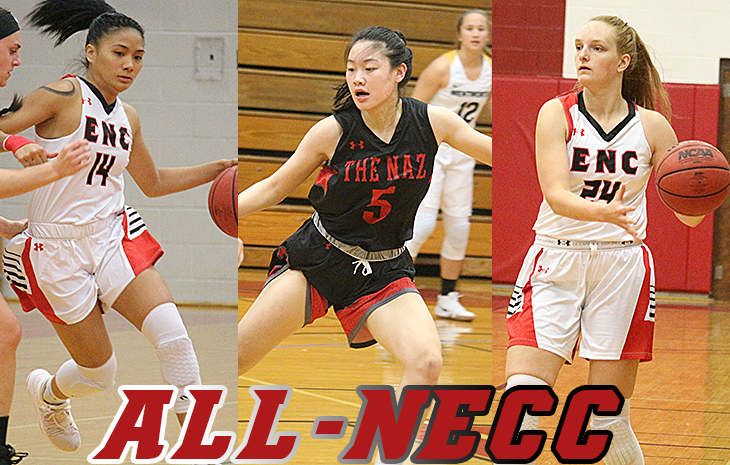 Women's Basketball's Shannon Chau Named NECC Defensive Player of the Year; Fleharty, Torio Tabbed All-NECC