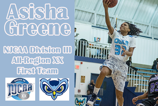 Prince George's Asisha Greene Selected To NJCAA Division III All-Region XX Women's Basketball First Team