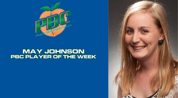 Johnson Named PBC Women's Tennis Player of the Week