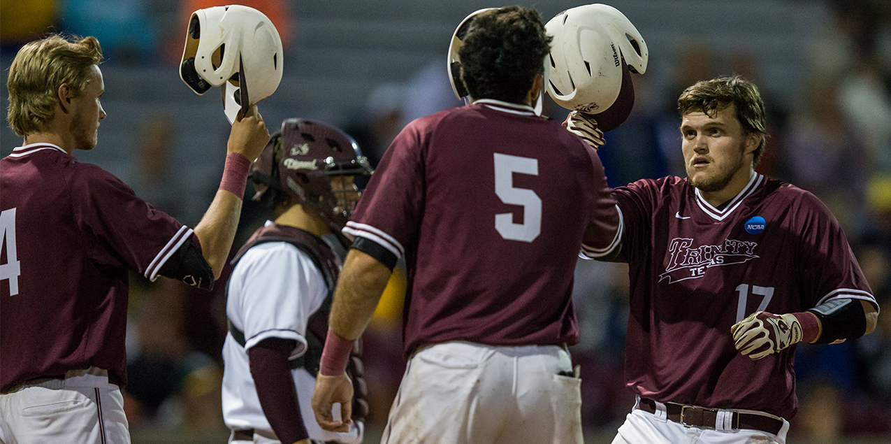 Blistering Bats Leads Trinity Past La Crosse; One Game Away from National Title Series