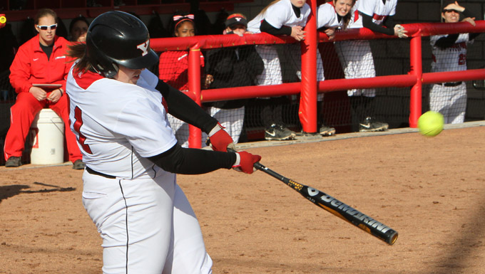 Sarah Ingalls clobbers the first home run in YSU Softball Complex history against Eastern Michigan.