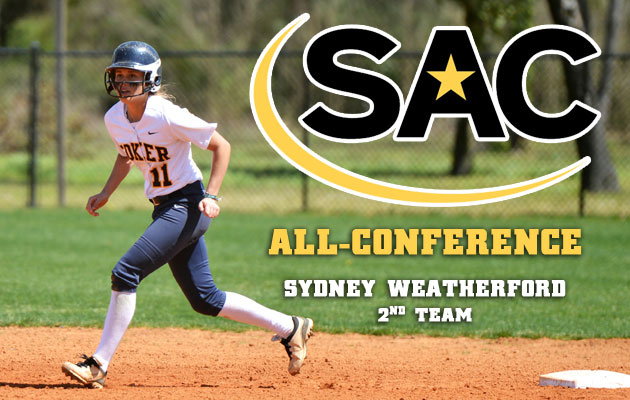 Coker's Weatherford Earns All-SAC Honors
