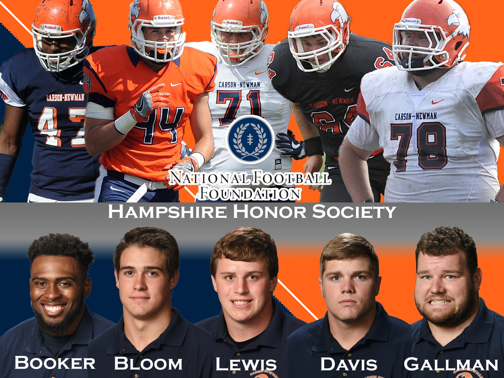 Five Eagles named to National Football Foundation's Hampshire Honor Society