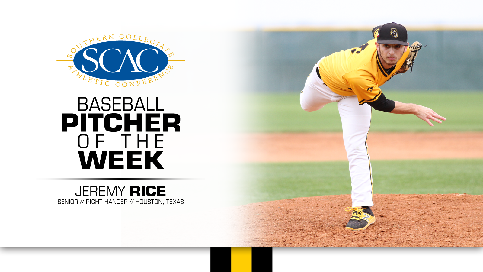Rice named SCAC Pitcher of the Week