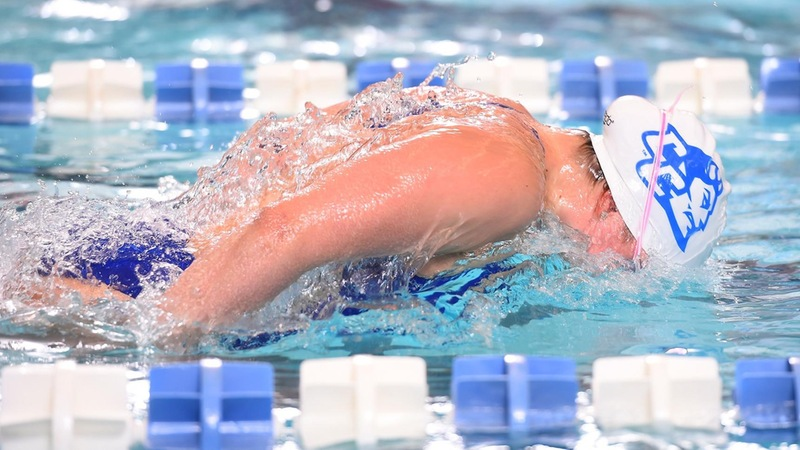 Swimming Completes Tri-Meet with Bryant and Wagner on Saturday