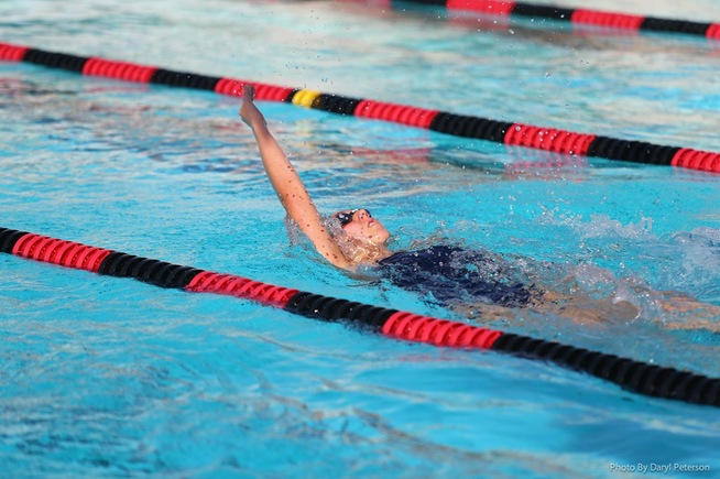 college swimming dual meet rules