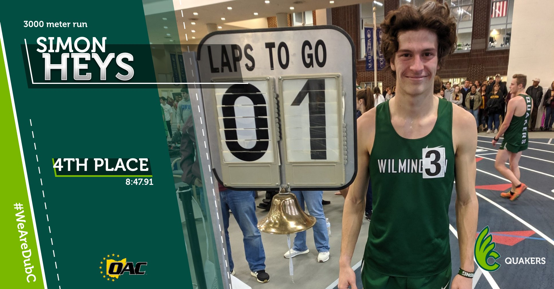 Men's Track & Field Takes Sixth at OAC Indoor Championships