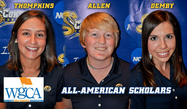 Three Women's Golfers Named All-American Scholars