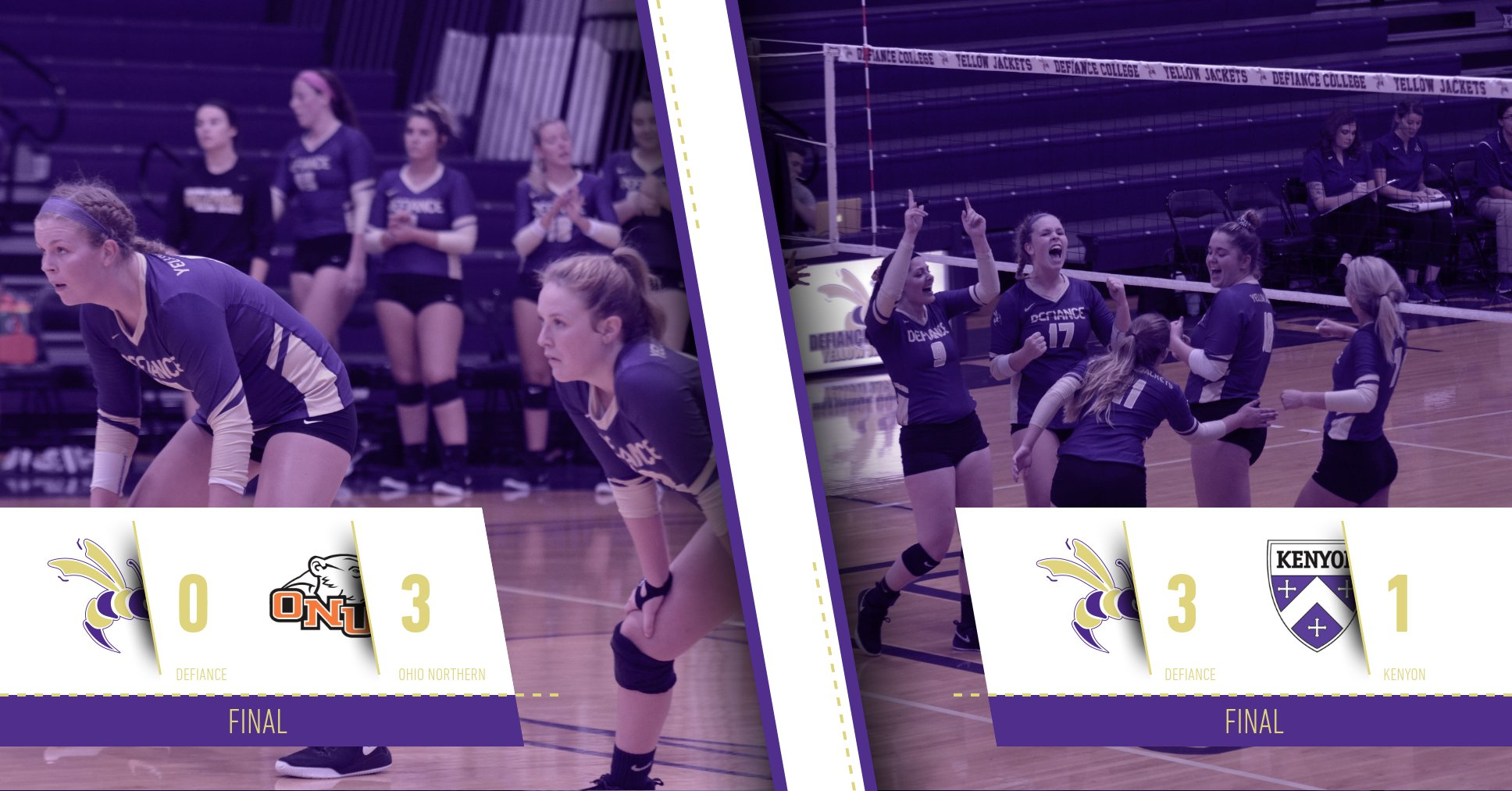 Volleyball Splits Results at ONU Tri-Match