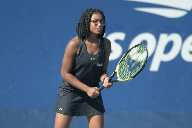 Women's tennis team drops home opener to Misericordia University on Sunday afternoon
