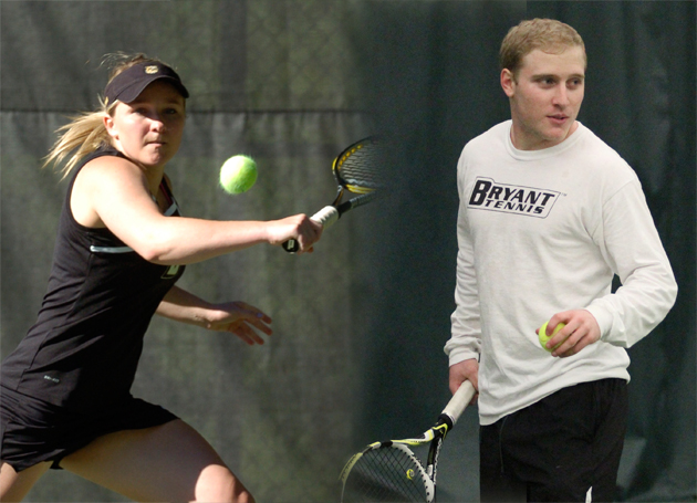 Bryant tennis sweeps NEC weekly honors