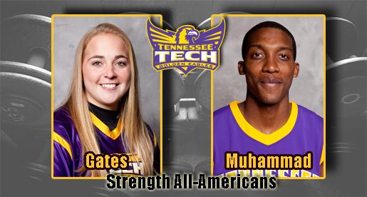 Gates, Muhammad named as TTU Strength All-Americans
