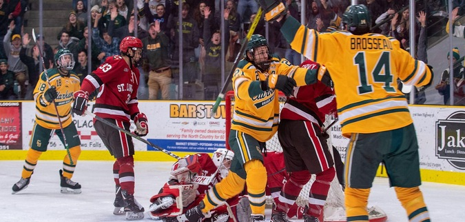 Clarkson Wins Another OT Thriller Over St. Lawrence