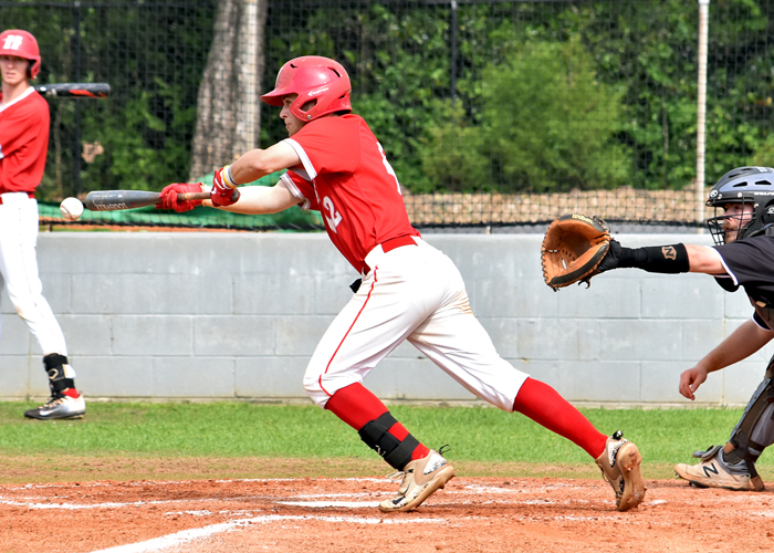 Wes Powell had four hits, two runs and a double in the first two games of a conference series with Piedmont.