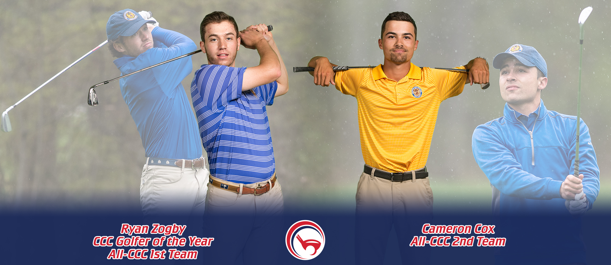 Zogby Named CCC Golfer of the Year, Cox Earns All-CCC 2nd Team Accolades