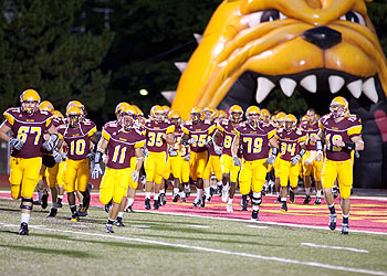 The Bulldogs return to the field for Saturday's game (Photo by Scott Whitney)