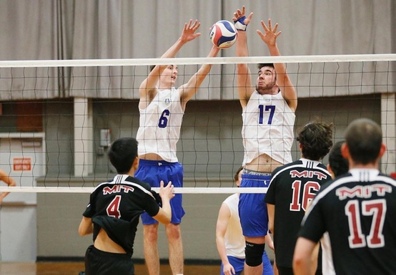 MEN'S VOLLEYBALL TALLIES 3-0 WINS OVER SOUTHERN VT & PINE MANOR