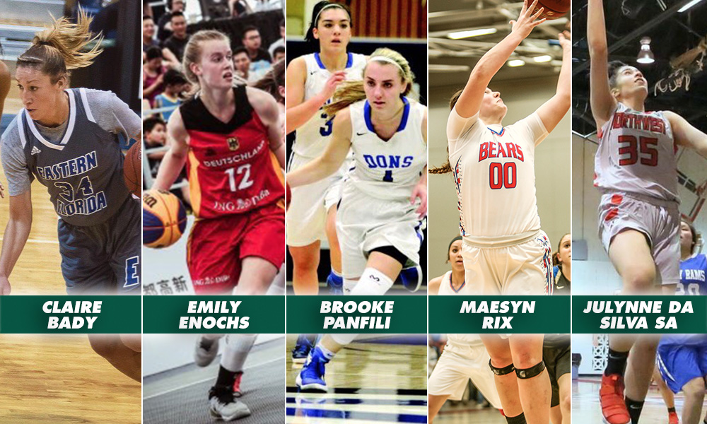 WOMEN'S HOOPS ADDS FIVE TO 2018-19 ROSTER