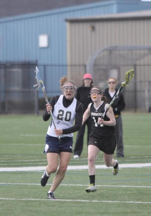 Courcy, Smith Each Net Pair Of Goals, Langley Makes 15 Saves As Women's Lacrosse Drops 10-8 Non-League Decision To Elms