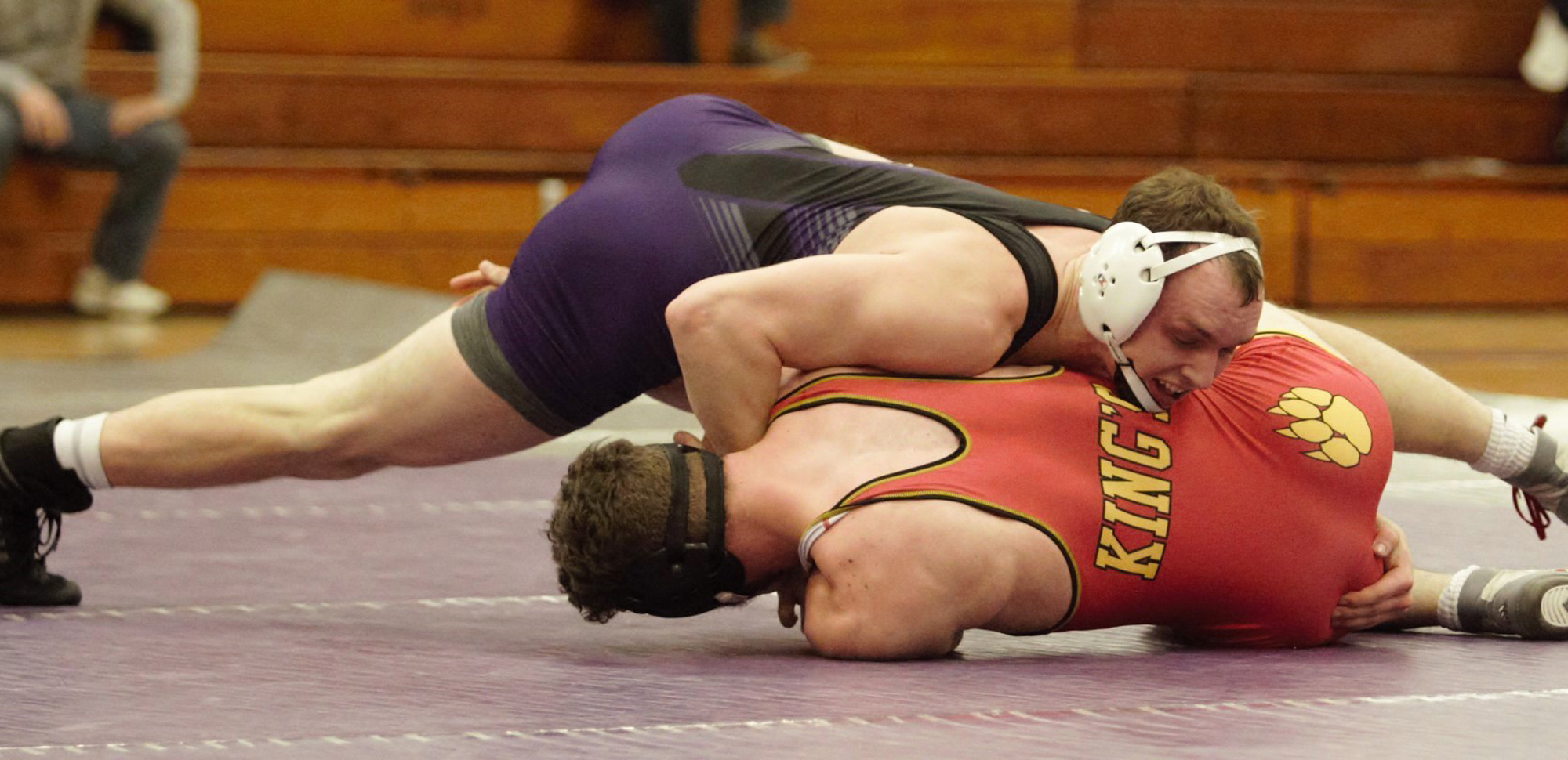 Senior Zachary D'Apolito won by decision at 184 pounds in the final match of his career in the Long Center on Saturday.