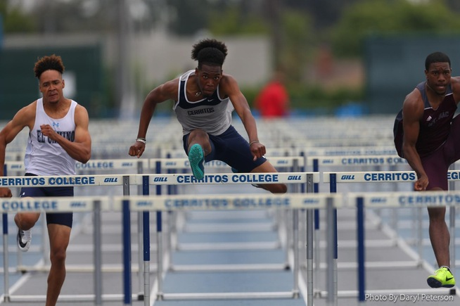 File Photo: Victor Williams placed second in the 110-meter HH at the SoCal Prelims