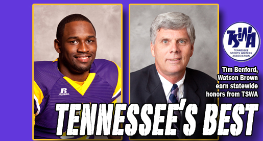 Benford, Brown receive top awards from Tennessee Sports Writers