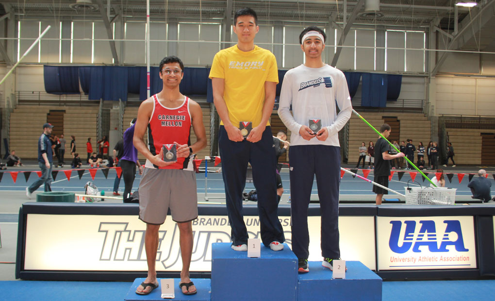 Emory Men's Track & Field Place Second at UAA Indoor Championships