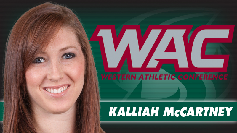 McCARTNEY WINS THIRD CONSECUTIVE WAC AWARD