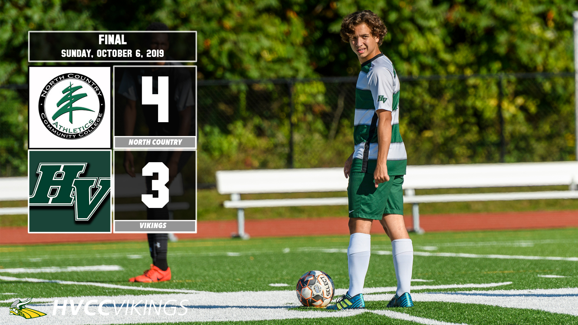 North Country defeated the Vikings men's soccer team 4-3 on Oct. 6, 2019.