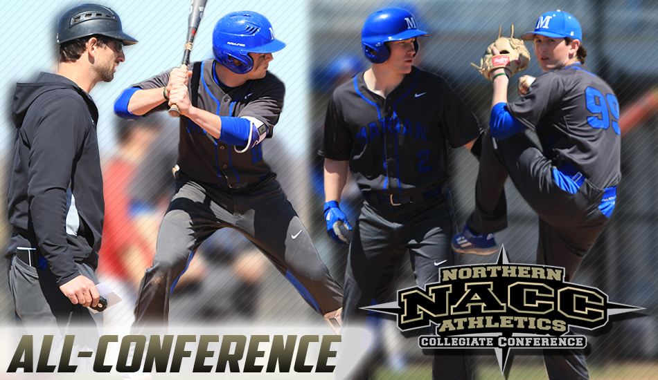 Marian baseball all-conference graphic.