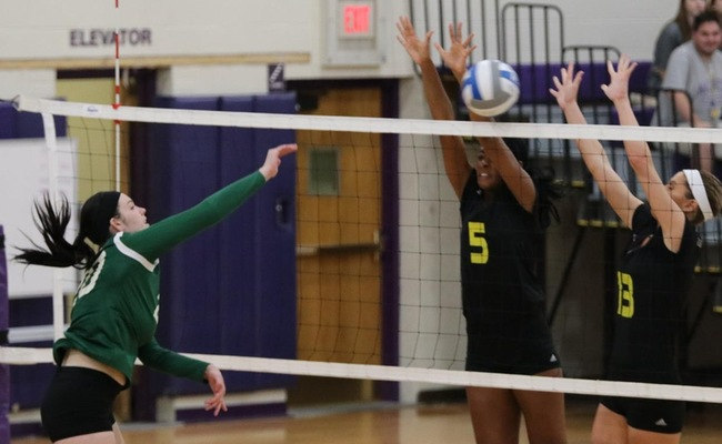Lauren Moelbert (20) led Keuka College with 10 kills on Friday
