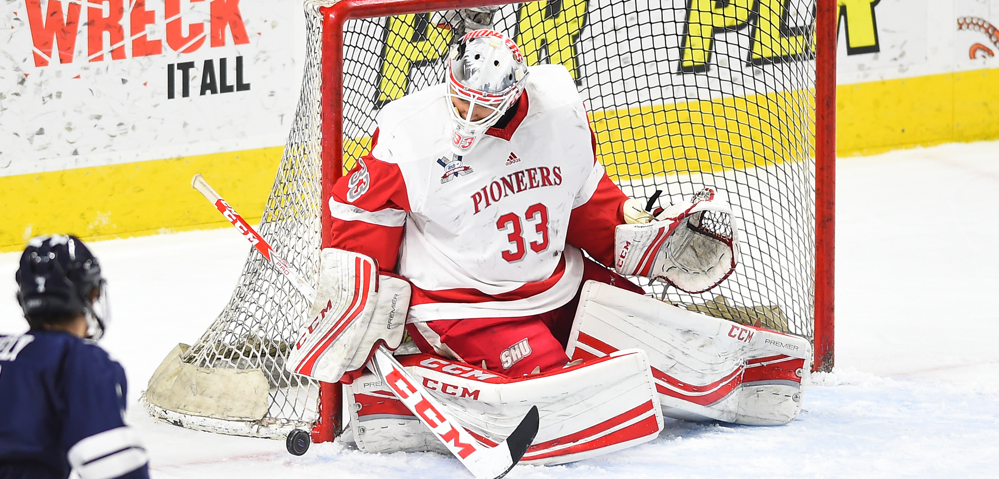 Pioneers Shutout RIT, 2-0 to Advance To Atlantic Hockey Quarterfinals