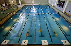 Northen Swimming Center, picture of pool with swimmers in action
