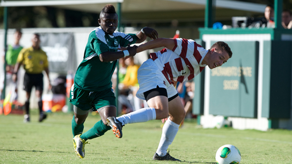 STANFORD USES TWO SECOND HALF GOALS TO TOP MEN'S SOCCER 2-0