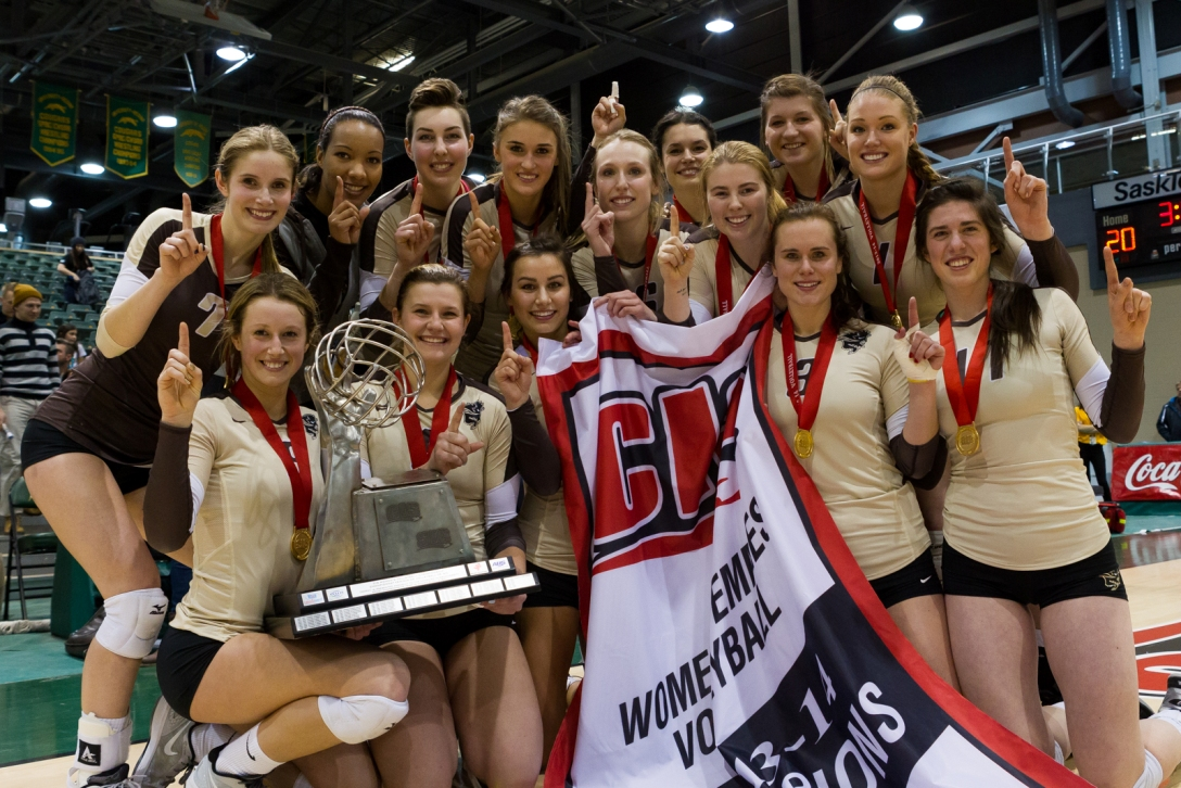 FINAL CIS women's volleyball championship, presented by SGI CANADA: Bisons upset six-time reigning champion UBC